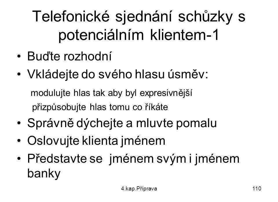 Telefonické sjednání schůzky s potenciálním klientem-1