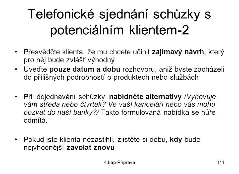 Telefonické sjednání schůzky s potenciálním klientem-2
