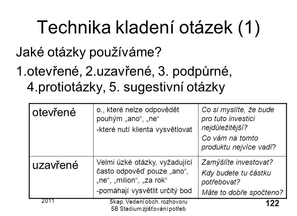 Technika kladení otázek (1)