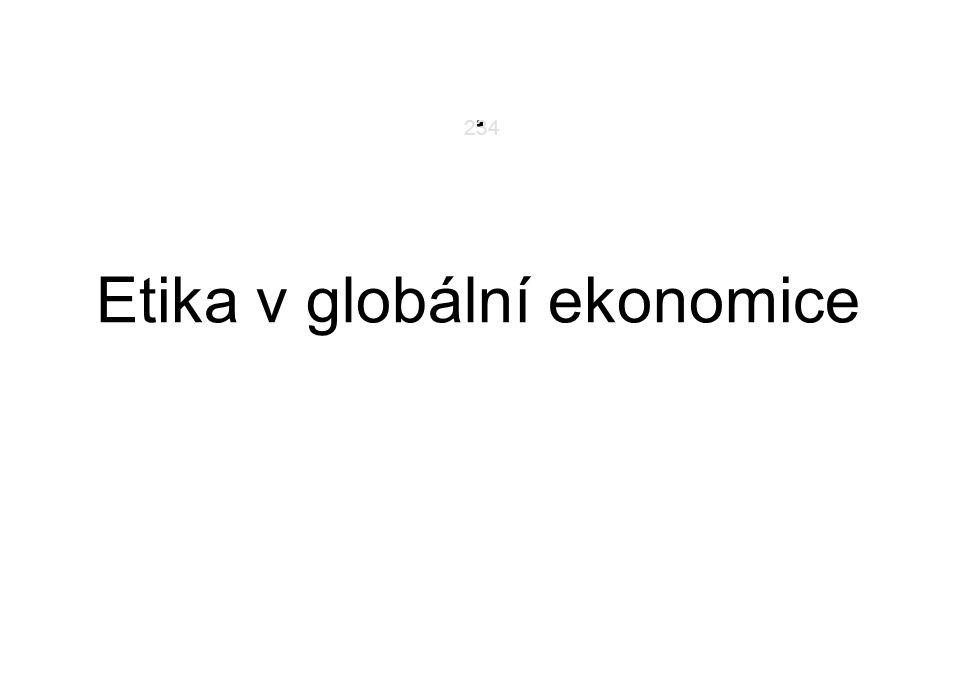 Etika v globální ekonomice