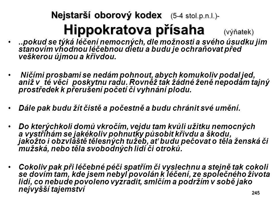 Nejstarší oborový kodex (5-4 stol. p. n. l