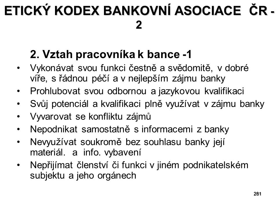 ETICKÝ KODEX BANKOVNÍ ASOCIACE ČR - 2