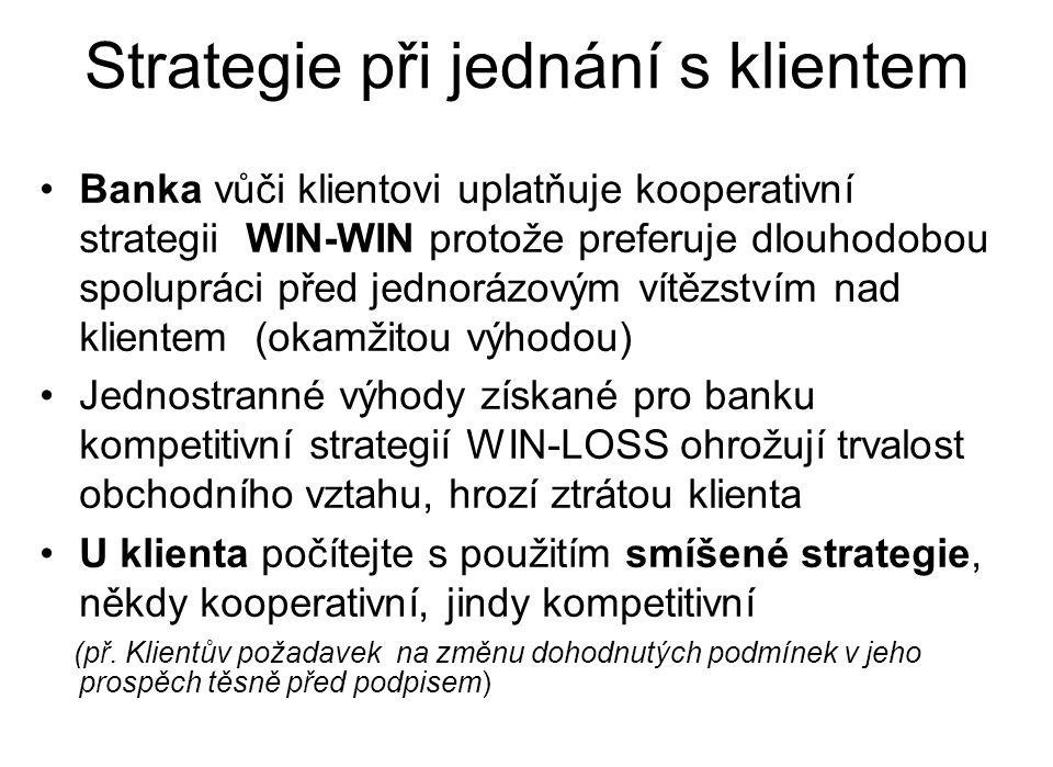Strategie při jednání s klientem