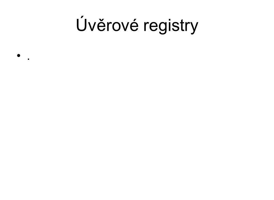 Úvěrové registry .