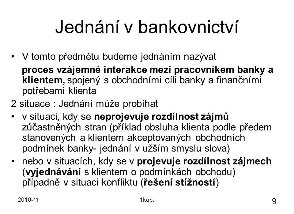 Jednání v bankovnictví
