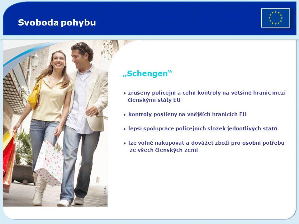 """Svoboda pohybu """"Schengen členskými státy EU ze všech členských zemí"""