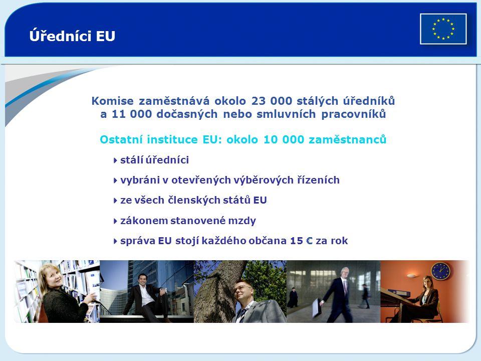 Ostatní instituce EU: okolo 10 000 zaměstnanců