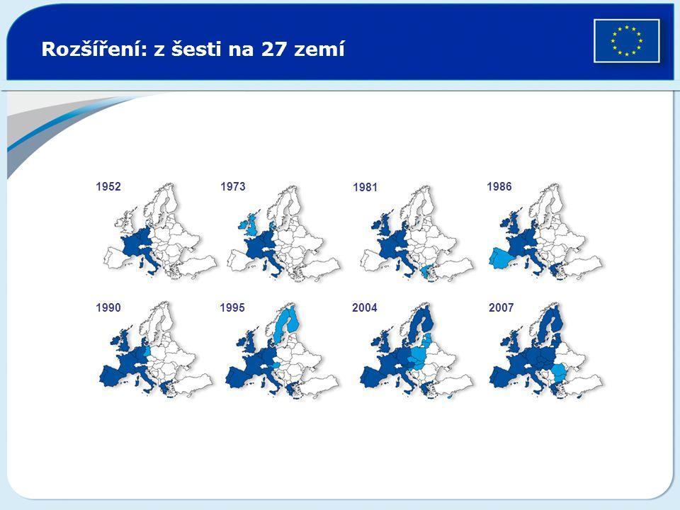 Rozšíření: z šesti na 27 zemí
