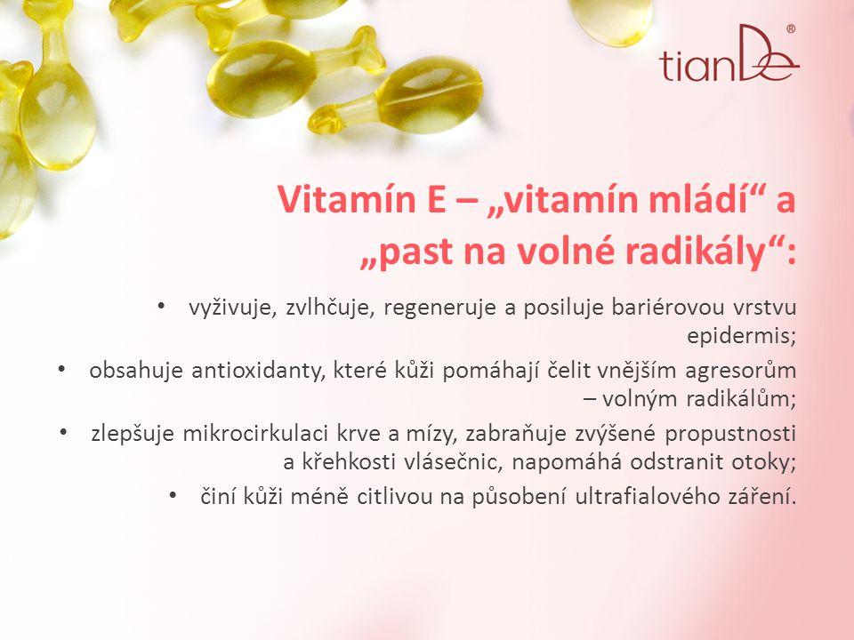 """Vitamín E – """"vitamín mládí a """"past na volné radikály :"""