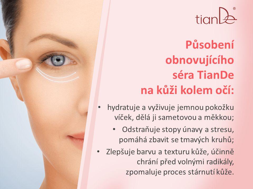 Působení obnovujícího séra TianDe na kůži kolem očí: