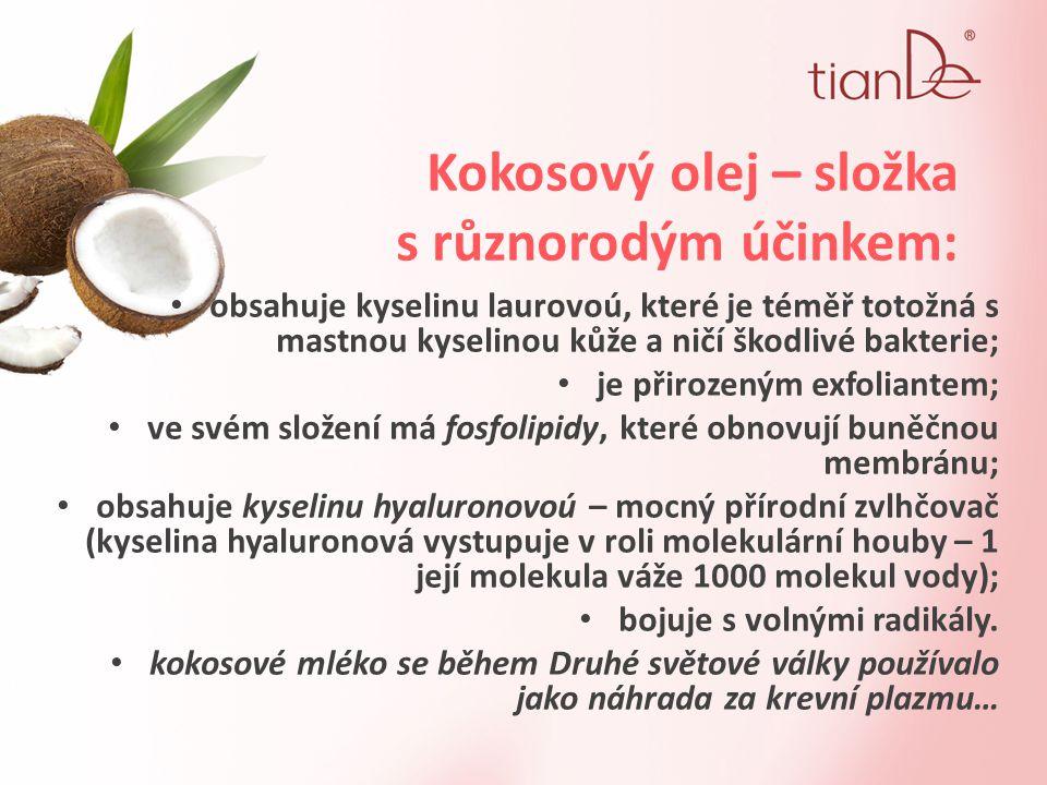 Kokosový olej – složka s různorodým účinkem: