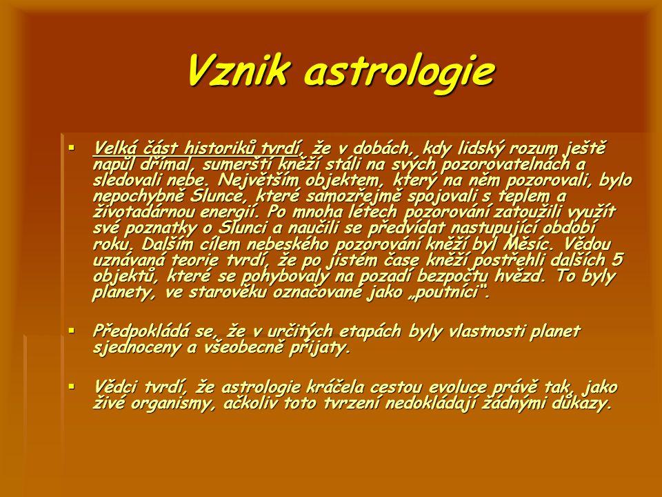 Vznik astrologie