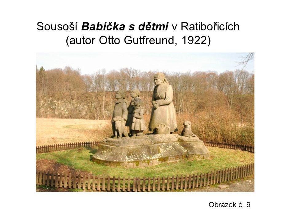 Sousoší Babička s dětmi v Ratibořicích (autor Otto Gutfreund, 1922)