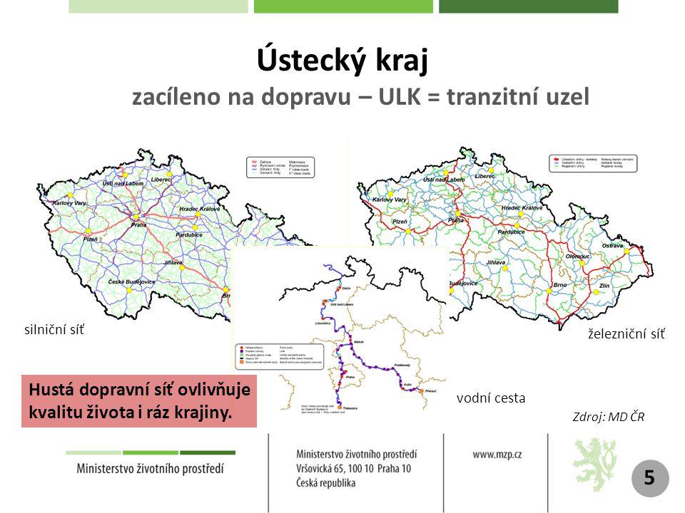 Ústecký kraj zacíleno na dopravu – ULK = tranzitní uzel