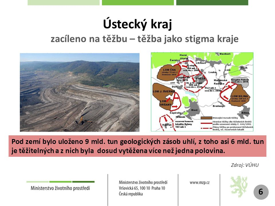 Ústecký kraj zacíleno na těžbu – těžba jako stigma kraje