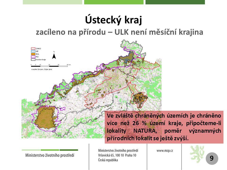 Ústecký kraj zacíleno na přírodu – ULK není měsíční krajina