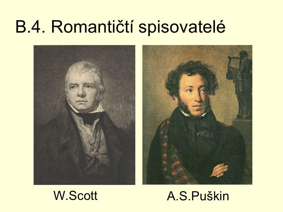 B.4. Romantičtí spisovatelé