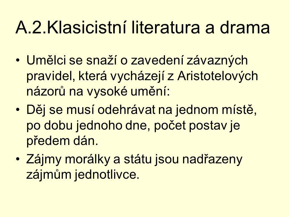 A.2.Klasicistní literatura a drama