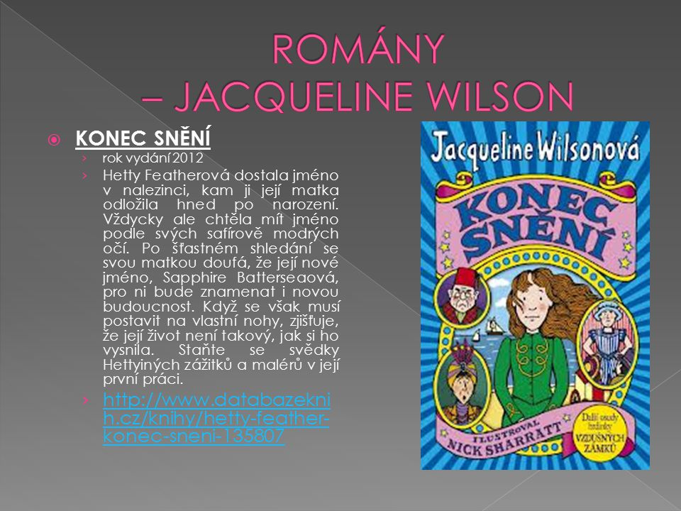ROMÁNY – JACQUELINE WILSON