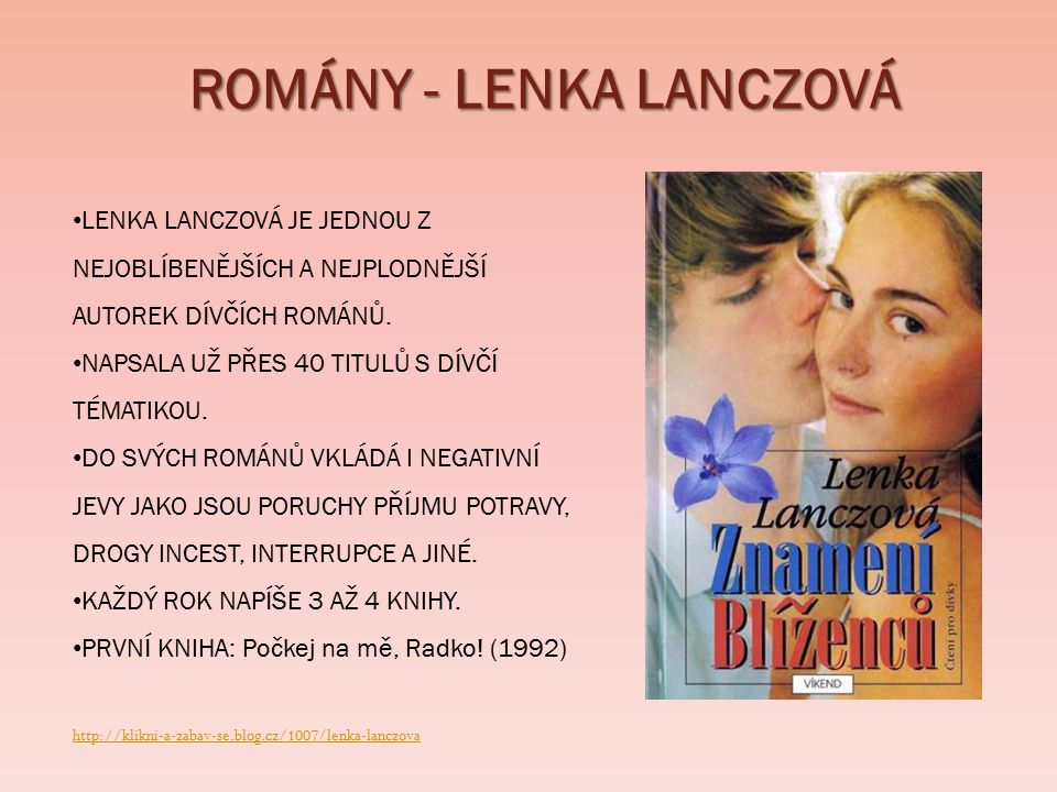 ROMÁNY - LENKA LANCZOVÁ
