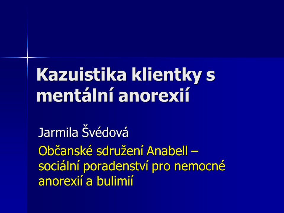 Kazuistika klientky s mentální anorexií