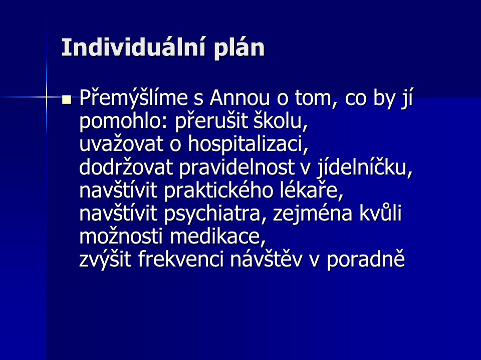 Individuální plán