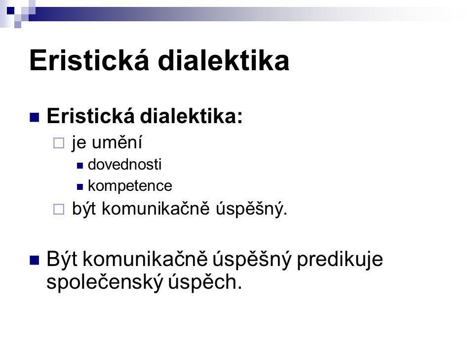 Eristická dialektika Eristická dialektika: