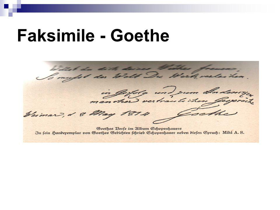 Faksimile - Goethe