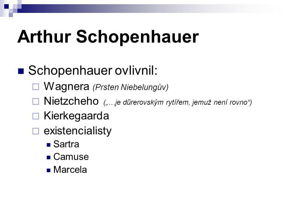 Arthur Schopenhauer Schopenhauer ovlivnil: