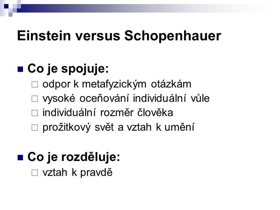 Einstein versus Schopenhauer
