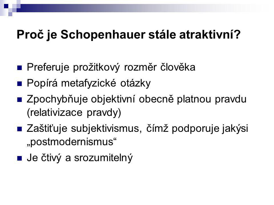 Proč je Schopenhauer stále atraktivní