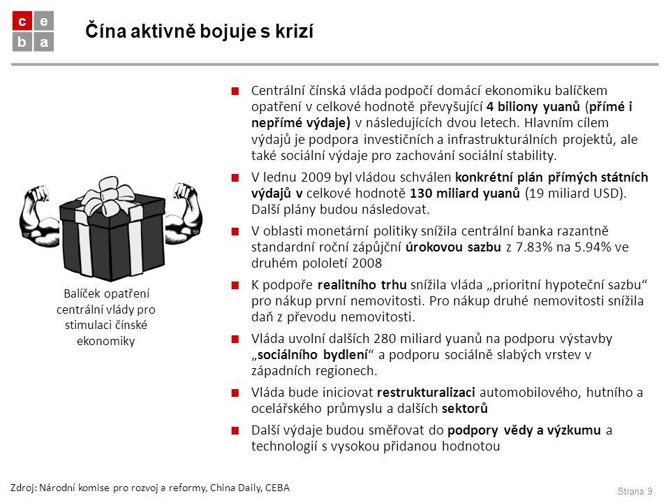 Čína aktivně bojuje s krizí