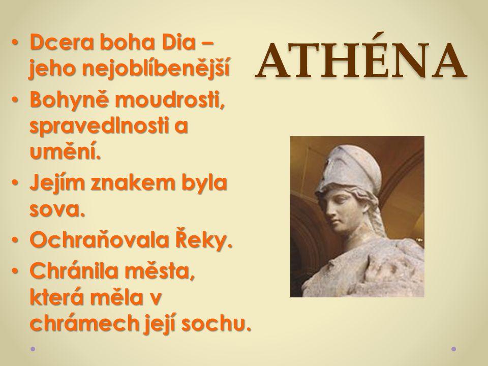 ATHÉNA Dcera boha Dia – jeho nejoblíbenější