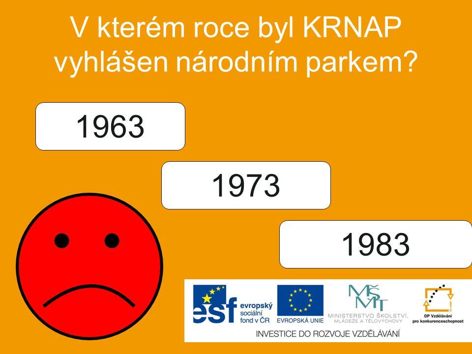 V kterém roce byl KRNAP vyhlášen národním parkem