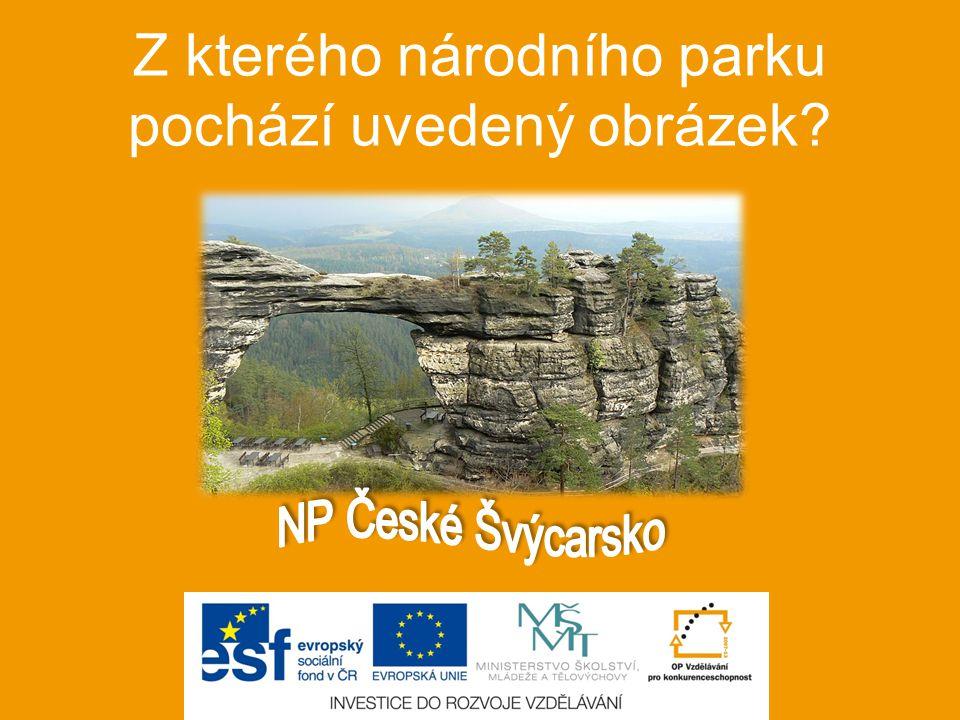 Z kterého národního parku pochází uvedený obrázek