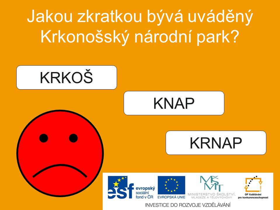 Jakou zkratkou bývá uváděný Krkonošský národní park