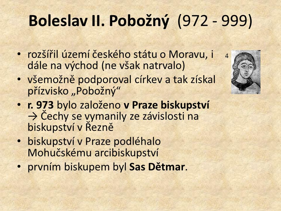 Boleslav II. Pobožný (972 - 999)