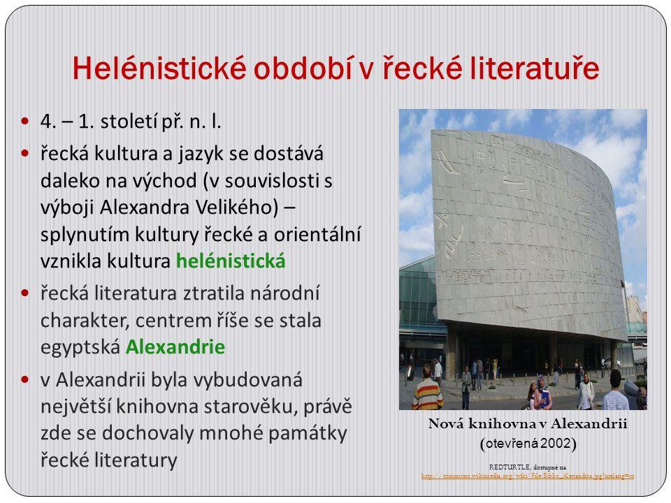 Helénistické období v řecké literatuře