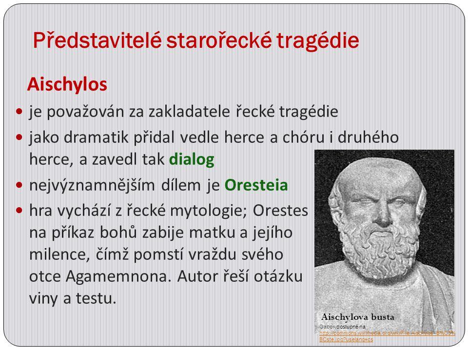 Představitelé starořecké tragédie
