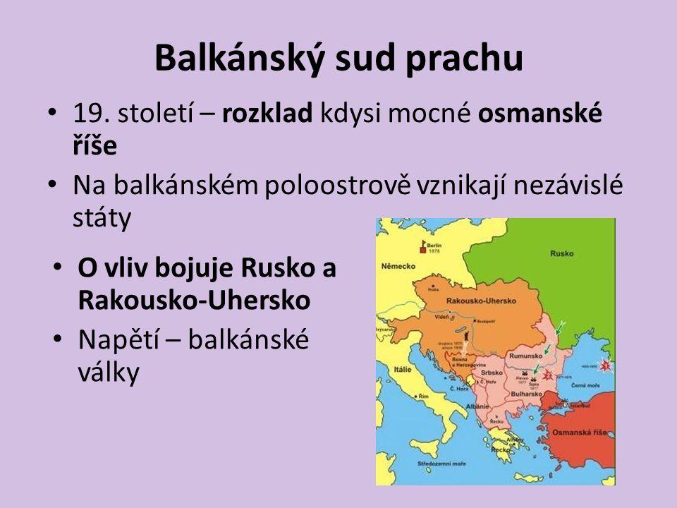 Balkánský sud prachu 19. století – rozklad kdysi mocné osmanské říše