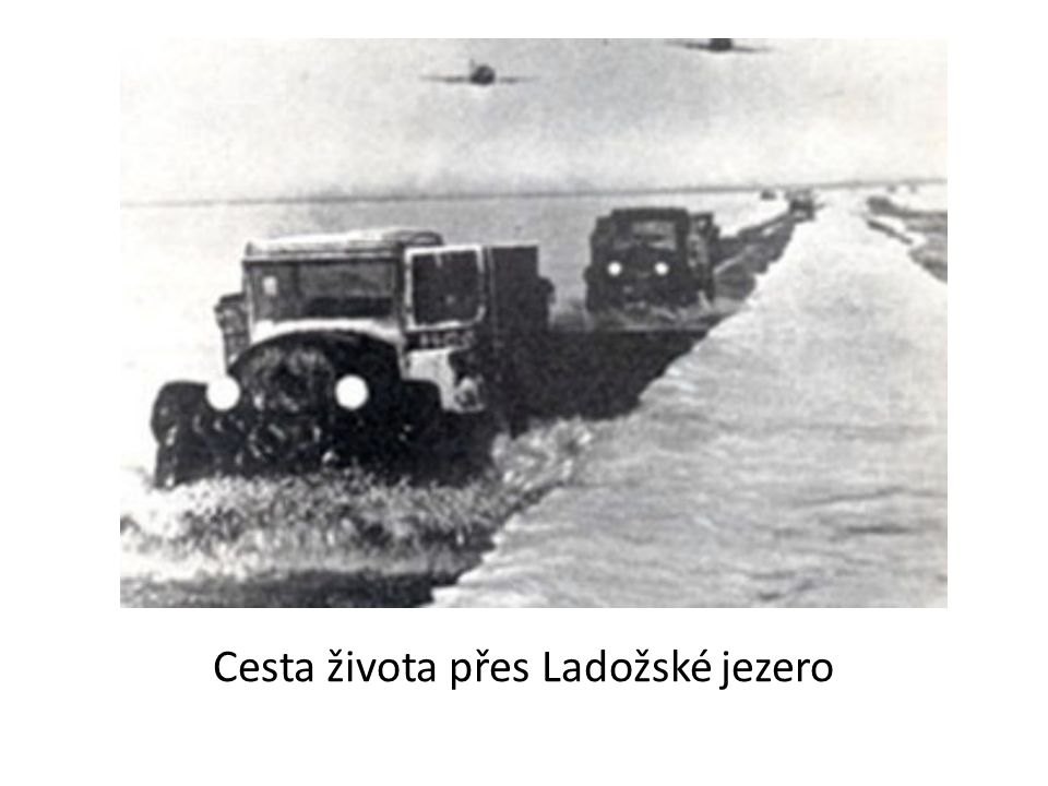 Cesta života přes Ladožské jezero
