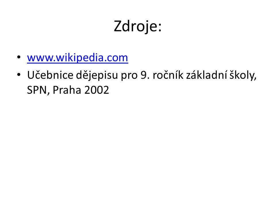Zdroje: www.wikipedia.com
