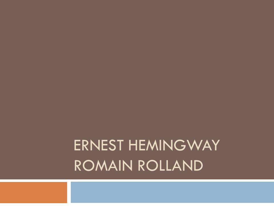 Ernest hemingway romain rolland
