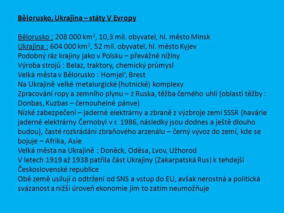 Bělorusko, Ukrajina – státy V Evropy