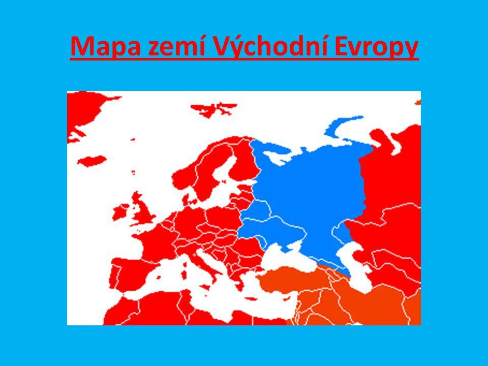 Mapa zemí Východní Evropy