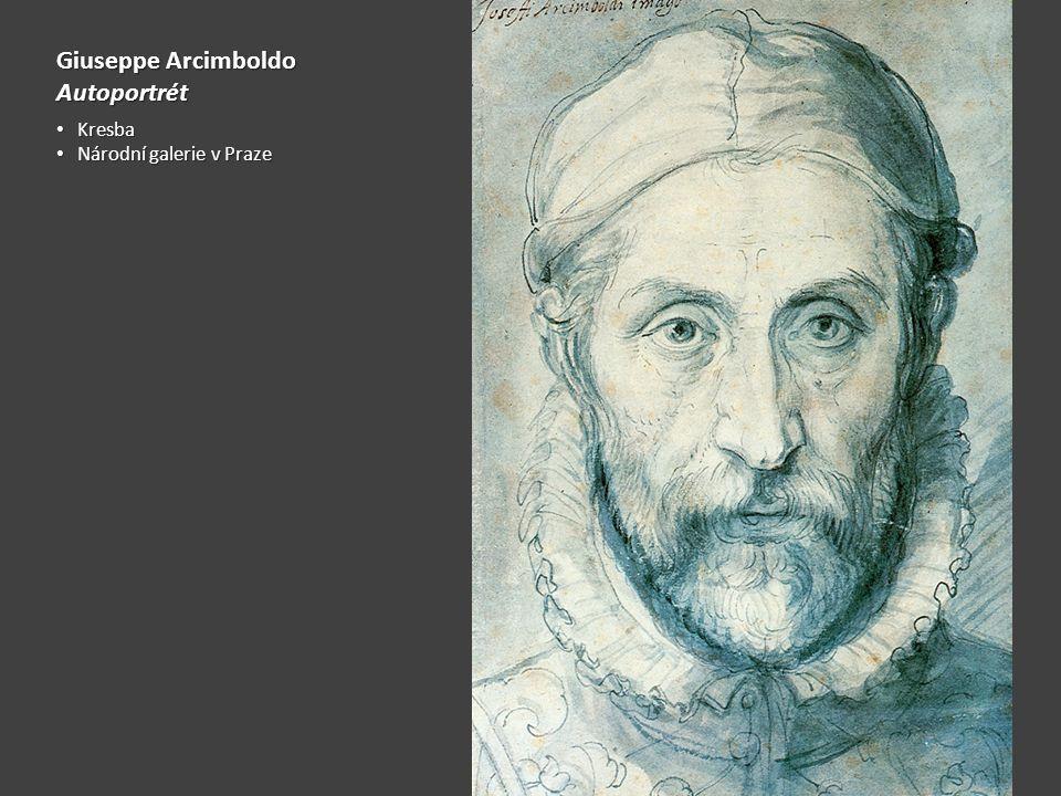 Giuseppe Arcimboldo Autoportrét Kresba Národní galerie v Praze