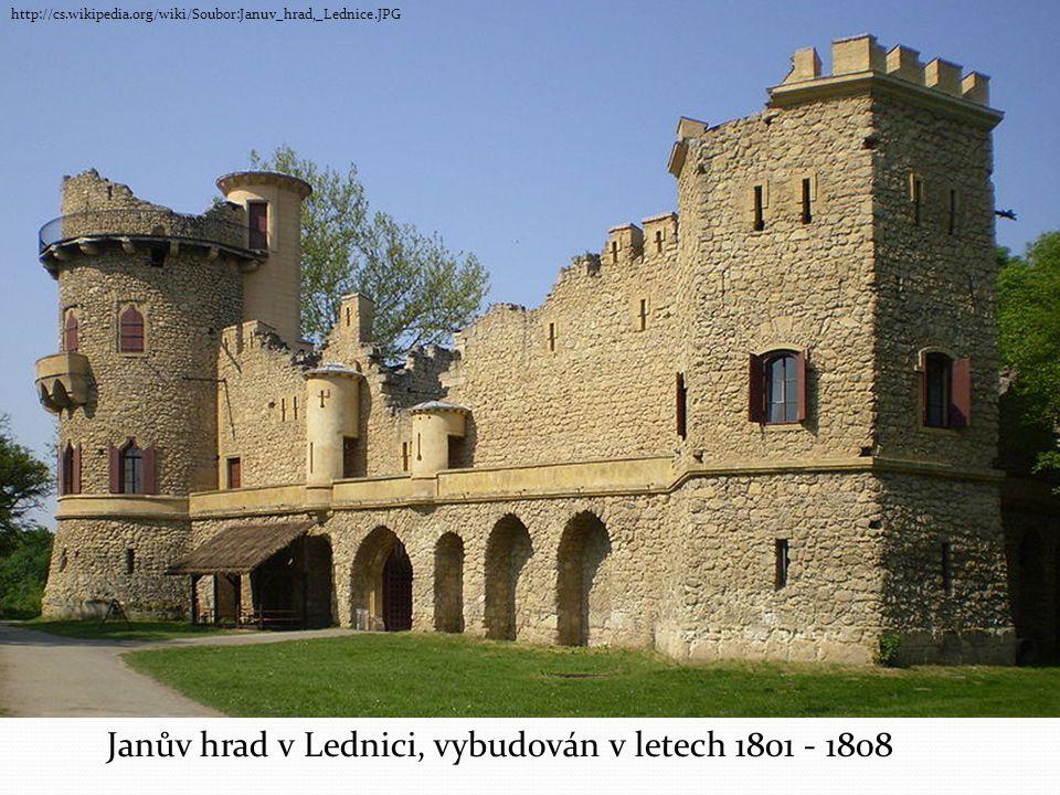 Janův hrad v Lednici, vybudován v letech 1801 - 1808