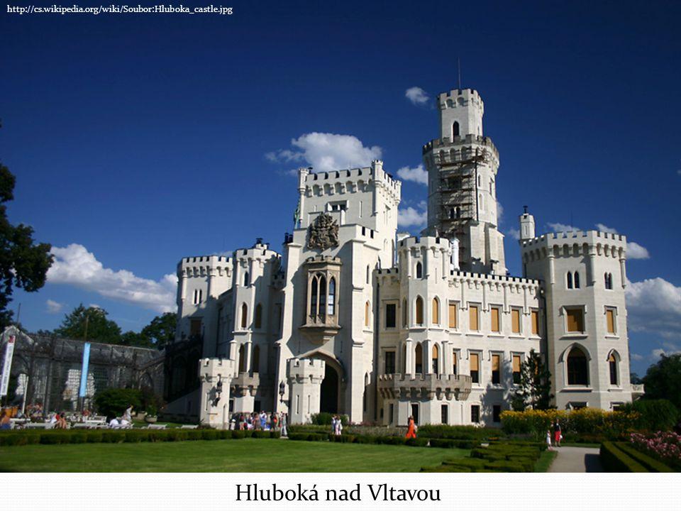 http://cs.wikipedia.org/wiki/Soubor:Hluboka_castle.jpg Hluboká nad Vltavou