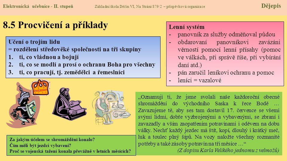 8.5 Procvičení a příklady Lenní systém