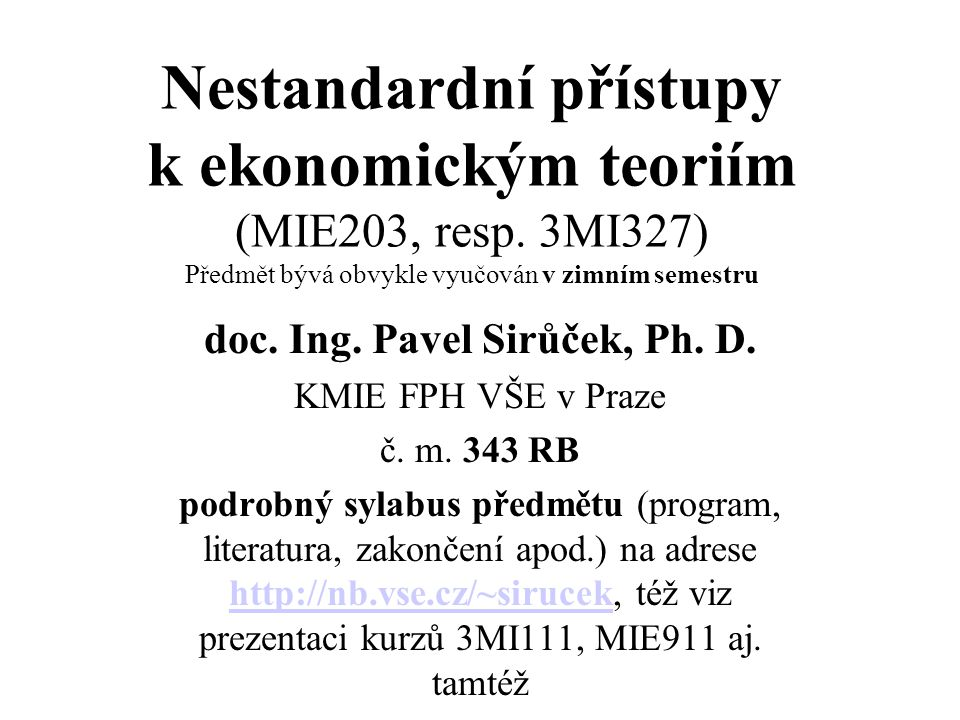 doc. Ing. Pavel Sirůček, Ph. D.